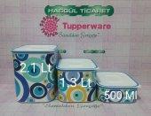Tupperware Su Nazar Set 3lü (Mavi Boncuk Saklama Kabı)
