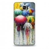 Samsung A7 2016 Kılıf Yağmur Ve Şemsiye Desenli Kılıf
