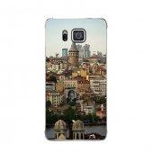 Samsung Alpha Kılıf Eşsiz Galata Manzarası Desenli Kılıf