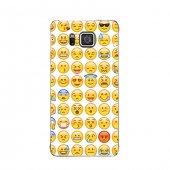 Samsung Alpha Kılıf Emoji Desenli Kılıf