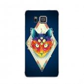 Samsung Alpha Kılıf Kedi Göz Desenli Kılıf
