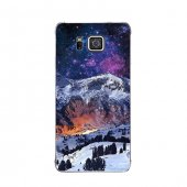 Samsung Alpha Kılıf Kar Ve Gökyüzü Desenli Kılıf