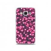 Samsung Core Prime Kılıf Neon Hearts Desenli Kılıf
