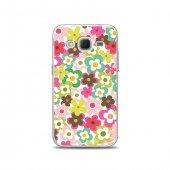 Samsung Core Prime Kılıf Renkli Çiçekler Desenli Kılıf