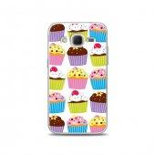 Samsung Core Prime Kılıf Renkli Cupcake Desenli Kılıf