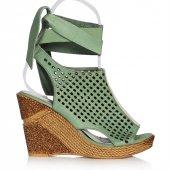 Uk Polo Club P64711 Kadın Topuklu Sandalet Yeşil