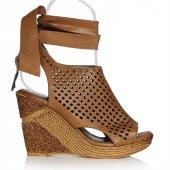Uk Polo Club P64711 Kadın Topuklu Sandalet Taba