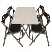 Sinem Katlanır Balkon Masa Sandalye Takımı 60x90blk