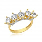 Kraliçe Beştaşlı 14 Ayar Altın Yüzük