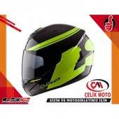 Motosıklet Kask Ls2 Ff351 Fluo Sıyah Neon Sarı Kask (Xl)