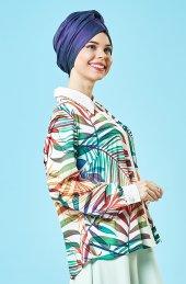 Bayan Buluz Dijital Baskı Büyük Beden,krep Kumaş