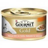 Gourmet Gold Parça Etli S. Alabalık Ve Sebz. Kedi Konserve 85gr