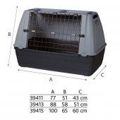 Trixie Metal Kapılı Plastik Köpek Taşıma Kafesi M L 100x65x60 Cm