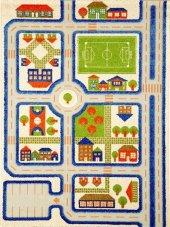 Ivi Çocuk Odası Oyun Halısı Trafik 160x230 Mavi...
