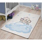 Confetti Çocuk Odası Anaokulu Oyun Halısı Baby Elephant 100x150