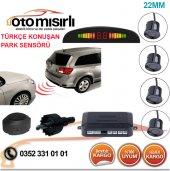 Türkçe Konuşan Led Göstergeli Park Sensörü Siyah