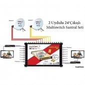 2uydulu 24 Çıkışlı Multiswitch Santral Seti