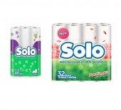 Solo Parfümlü Tuvalet Kağıdı 32'li Ve Kağıt Havlu 12'li