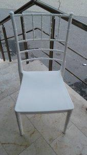 Plastik Oymalı Bahçe Sandalyesi Lüx Beyaz