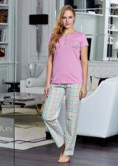 Pierre Cardin 9047 Pembe Bayan Pijama Takımı