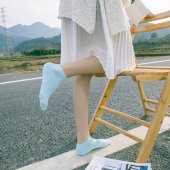 Bambu Solmaz Canlı Renkli Bayan Soket Patik Çorap 8li Paket