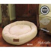 Wowpaw Luxury Döşeme Kedi Köpek Yatağı 60x60x15 Beyaz