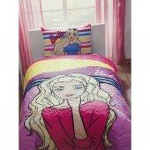 Taç Lisanslı Yatak Örtüsü Seti Barbıe Dream