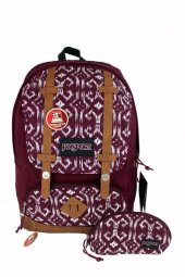 Jansport Backpack Baughman Russet Red Moroccan Sırt Çantası Lapto