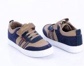 Bej Lacivert Çocuk Ayakkabı