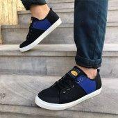 Siyah Saks Renk Günlük Ayakkabı