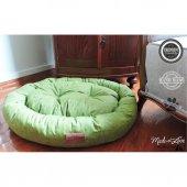 Wowpaw Donut Jean Kedi Köpek Yatağı 80x60x15 Yeşil