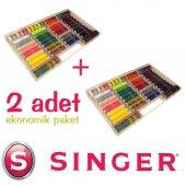 Singer 500 01 32 Renk Renkli İplik Seti İkili Set
