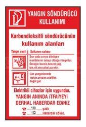 Yangın Söndürücü Kullanımı Levha Karbondioksitli Söndürücünün Kullanım Alanları