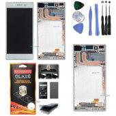 Sony Xperia Z5 Lcd Ekran Dokunmatik (Çıtalı) Beyaz