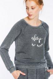 Prato Koyu Gri Süpersoft Sweatshirt