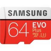 Samsung 64gb Evo Plus Micro Sd Hafıza Kartı C10 U3 4k 100mb S