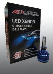 H7 Led Xenon Deli Mavi Şimşek Etkili Deli Mavi Led Xenon Led Zenon Far Set 40.000k
