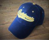 California A Kalite İşlemeli Kot Desen Şapka