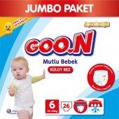 Goon Bebek Bezi Mutlu Bebek Külot 6 Beden 26 Lı Jumbo Paket 15 25 Kg