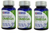 3 Kutu Iqmega Mixture Omega 3 6 9 Balık Yağı 60 Softjel