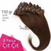 çıtçıt Saç Kahverengi Karamel Saçlar 150 Gr A Kalite Saç