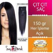 Koyu Kestane 8 Parça Çıtçıt Saç