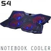 S4 Gaming Oyuncu Notebook Laptop Soğutucu 4 Fanlı