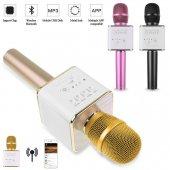Q9 Karaoke Mikrofon Kablosuz Bluetooth Hoparlör Usb Mikrofon