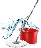 Proff Quatro Temizlik Seti Mob Temizlik Kovası Kırmızı
