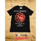 Game Of Thrones Targaryen T Shirt , Tişört Siyah