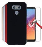 Lg G6 Silikon Sert Rubber Kılıf + Nano Kırılmaz Ekran Koruyucu