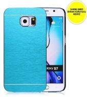 Samaung Galaxy S7 Motomo Metal Kılıf Mavi Darbe Emici Ekran