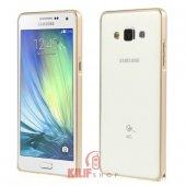 Samsung Galaxy A5 Kılıf Gold Metal Çerçeve Bumper Çerçeve 2xflim