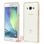 Samsung Galaxy A5 Kılıf Gold Metal Bumper Çerçeve 2xflim